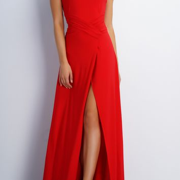 Jodi Strapless Evening Gown - Red