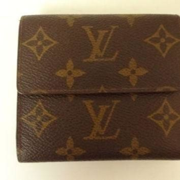 VLX9RV Auth Louis Vuitton Compact wallet Elise monogram VIntage GOOD used Bag unisex
