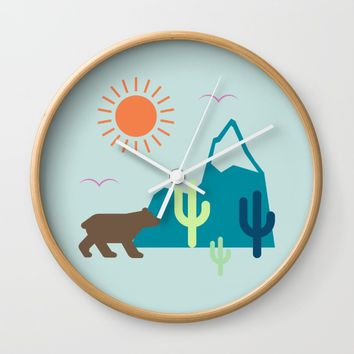 Nature Cactus Wall Clock by Anonymous