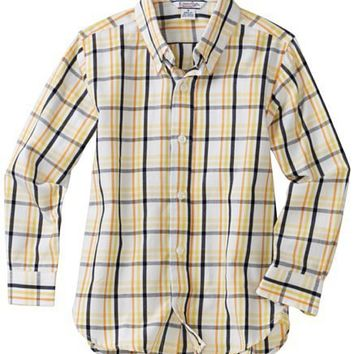 Kitestrings Boys 8-20 Big Long Sleeve Plaid Button Front Shirt
