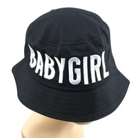 Keral Blends Babygirl Letter Embroidered Bucket Hat Women Cap