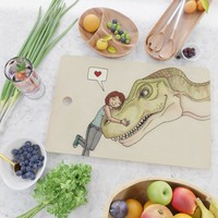 I love dinosaurs Cutting Board by savousepate
