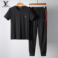 Boys & Men Louis Vuitton Shirt Top Pants Trousers Set Two-Piece Sportswear