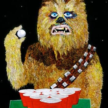 BEER PONG WOOKIE Art Print by Jordan Soliz | Society6