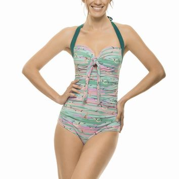 Estivo Pink Skies Drapped One Piece