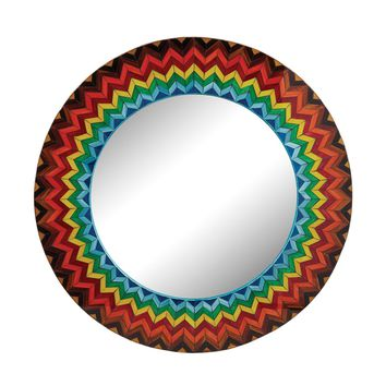 Vibrant Multi Starburst Mirror Color