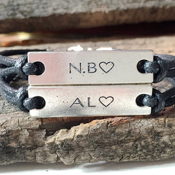 Couples Bracelet, matching couples bracelet, Customized couple bracelet, couple name bracelet, name bracelet, Engraved bracelet Custom