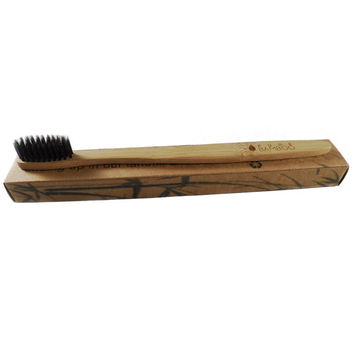 Pure Bamboo Environmental Toothbrush, Very Soft Bristles, Bio-Degradeable