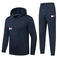 Boys & Men Tommy Hilfiger Fashion Casual Top Sweater Pullover Hoodie Pants Trousers Set Two-Piece