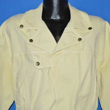 80s Guess Georges Marciano Yellow Denim Jacket Extra Large
