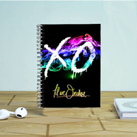 The Weeknd Xo Design Rainbow Photo Notebook Auroid