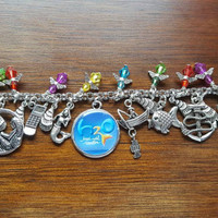H2O just add water inspired charm bracelet