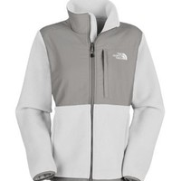 Women's The North Face Denali Jacket TNF White/Metallic Silver: Clothing