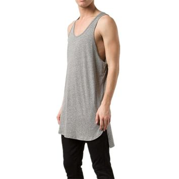 Cotton Extra Length Long Back Longline Tank Top