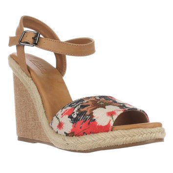 Dolce by Mojo Moxy Posey Espadrille Wedge Sandals, Black, 8 US