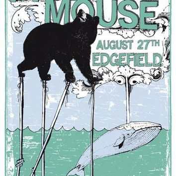 Modest Mouse Bear and Whale Poster 12x18