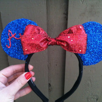 Sport Minnie/Mickey Mouse Ears by MagicalMickeyEars on Etsy