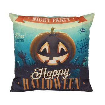 Halloween Pillow Case Sofa Waist Throw Cushion Cover