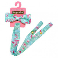 Simply Southern Sunglass Bow Retainer - Seaweed