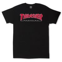 Thrasher Magazine Shop - Outlined T-Shirt Black