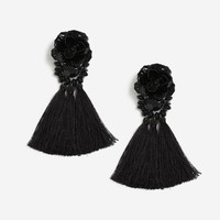 Flower Tassel Drop Earrings - Shop All Sale - Sale