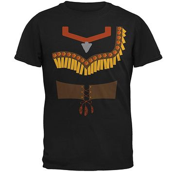 Halloween Native American Princess Costume Red Mens T Shirt