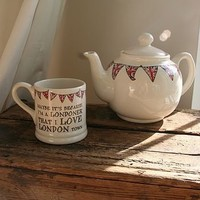 Union Jack Bunting English Teapot