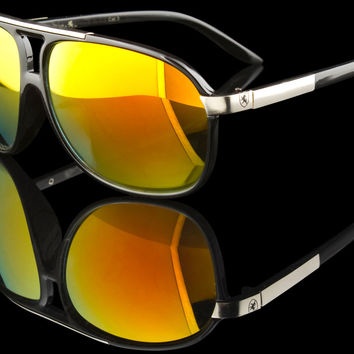 "Stylish Plastic Aviator Sunglasses ""Cancun II"""