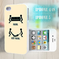 unique iphone case, i phone 4 4s 5 case,cool cute iphone4 iphone4s 5 case,stylish plastic rubber cases cover, funny  friend yellow  p998