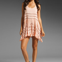 Free People Voile and Lace Trapeze Slip in Blush Combo from REVOLVEclothing.com