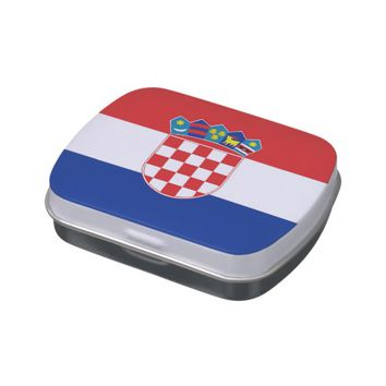 Patriotic candy tins with Flag of Croatia