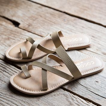 Catalina Slide on Sandal, Gold | Coconuts By Matisse