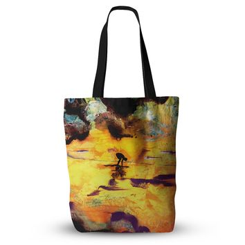"""Josh Serafin """"Pool of Life"""" Yellow Abstract Everything Tote Bag - Outlet Item"""