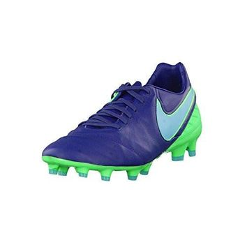 nike tiempo legacy II FG mens football boots 819218 soccer cleats (US 9, coastal blue 443)