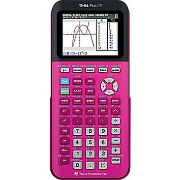 Texas Instruments TI-CE84 Color Screen Graphing Calculator, Pink | Staples®