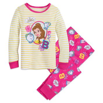 Authentic Disney Store Beauty & the Beast Belle PJ PALS Set for Girls Size:9/10