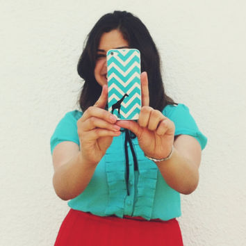 Iphone 5 4 4s Skin Cover - Chevron Pattern