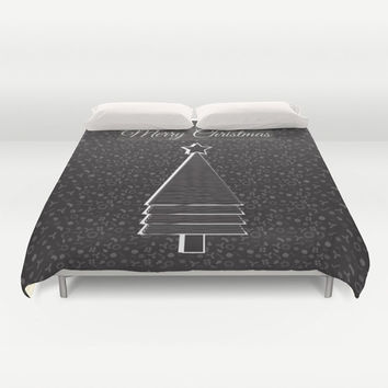 Christmas Duvet Cover, black bedroom decor, Christmas bedding, Xmas duvet cover, Bedding, Home Interior Decoration