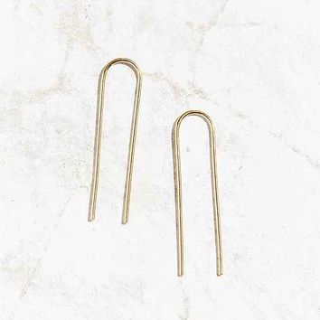 Tiny Armour Long Arc Earring