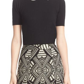 Alice + Olivia Regina Embellished Collar Sweater | Nordstrom
