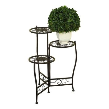 ORE International 41331 Metal 3-Tier Plant Stand