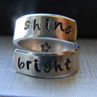 shine bright twist aluminum ring