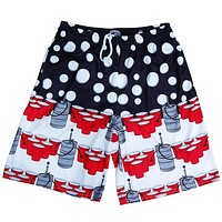 USA Patriotic Beer Pong Lacrosse Shorts