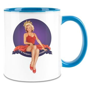 PIN UP It's Friday 11oz  Ceramic Coffee Mug - 11 Oz