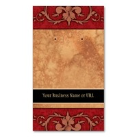 Custom Earring Cards Red Vintage Damask