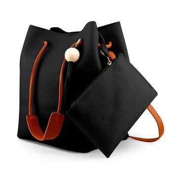 Oct17 Fashion Tassel buckets Tote Handbag, Women Messenger Hobos Shoulder Bags, Crossbody Satchel Bag