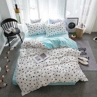 Geometric Patterns Bedding Set Bed Sheet Duvet Cover Pillowcases Kids Full Queen Twin King Size Bedding 3/4pcs Home Textiles