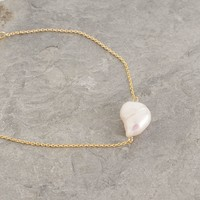 Single Pearl Bracelet, Gold Plated