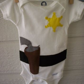 Cowboy Holster/Sheriff Badge Onesuit by WillingHandsCrafts on Etsy