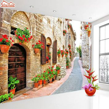 ShineHome-Large Custom Wahable Wallpaper European City Landscape 3d Modern Room Fabric Wall Paper Decorative Murals Desktop